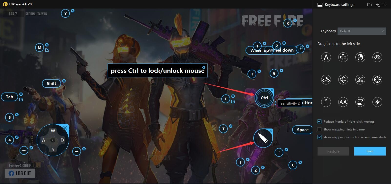 Fix problems with sensitivity and firing and changing view in Free Fire