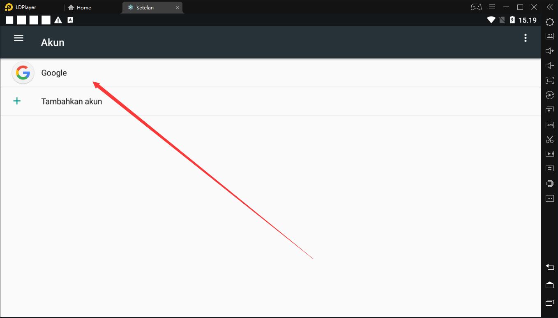 Cara keluar dari akun Google dari LDPlayer