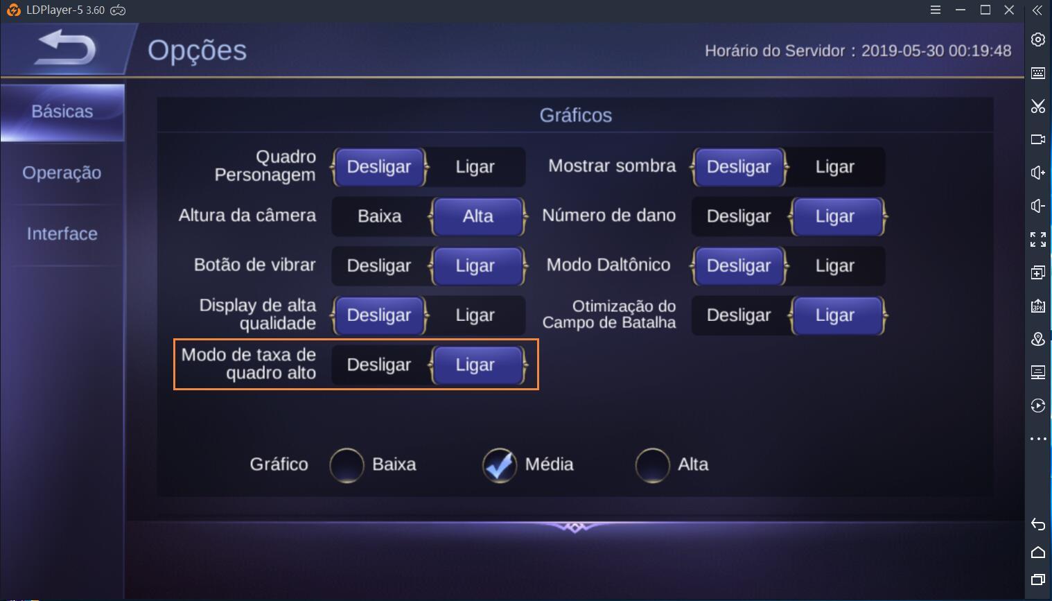 Como jogar Mobile Legends: Bang Bang em 60 FPS