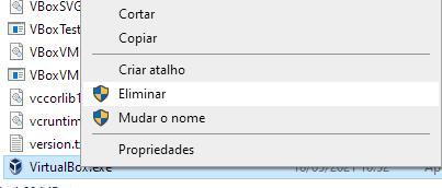 Solução de Windows 10 não suporta a VirtualBox