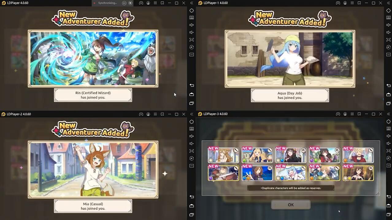 KonoSuba: Fantastic Days - Как сделать реролл быстро и получить лучших стартовых персонажей?