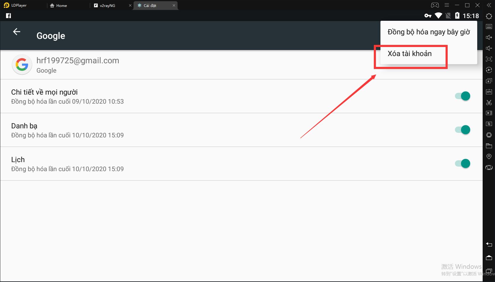 Cách đăng xuất tài khoản Google từ LDPlayer