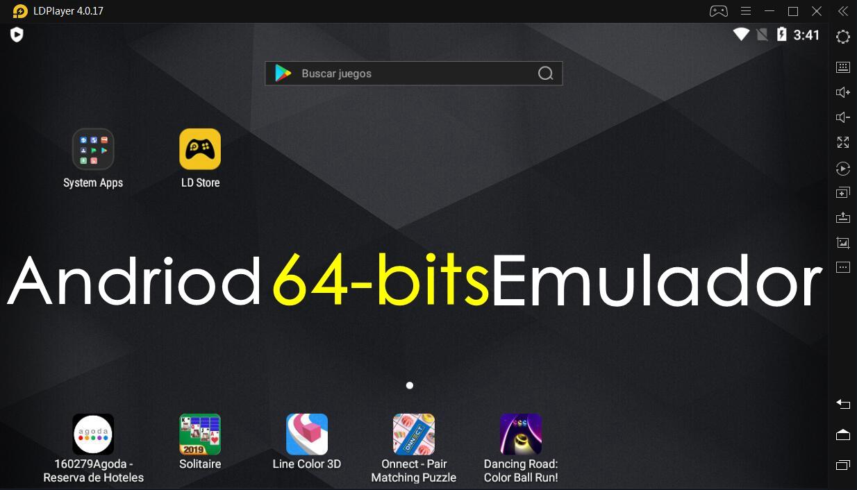 Descargar emulador de Android de 64 bits...