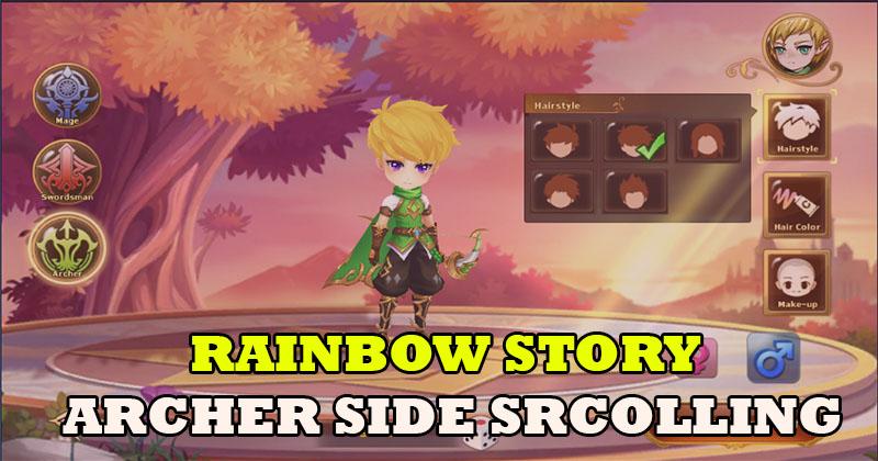 Rainbow Story MMORPG Archer Side-Scrolli...